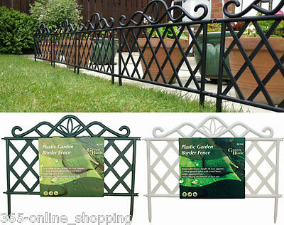 Victorian Iron Effect Plastic Garden Flower Bed Lawn Edging Fence Border  Panel