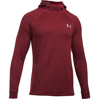 Under Armour Hoodie Tech Terry Fitted Red Sweater Zipper sweatshirt training