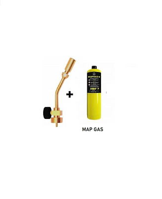 Profire Plumbing Blowlamp Torch & 1 MAP Gas Bottle Heating Soldering Brazing