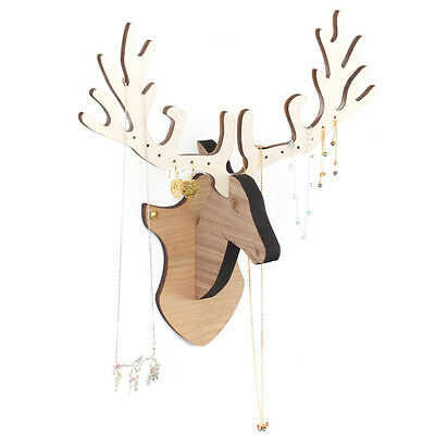Amanda Coleman wooden Wild Deer wall mounted jewellery stand, gift for her