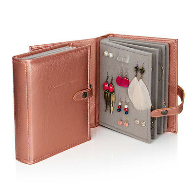 The Little Book of Earrings jewellery storage organiser rose gold metallic, gift