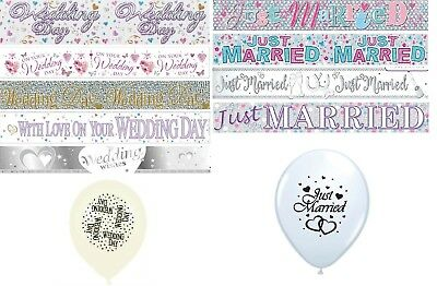 Wedding Day & Just Married  Banners Party Decorations