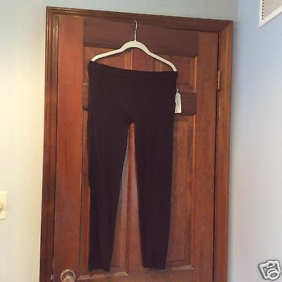 French Laundry Leggings Seamless  Black ONE SIZE PLUS (1-3X)  NEW WITH TAGS!