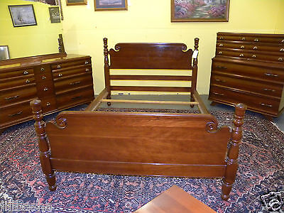 Kling Furniture Mid Century Modern Solid Cherry Full Queen Bedroom Set