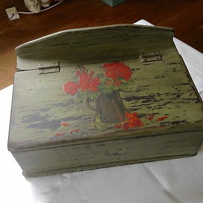Vintage Wooden Box Which Has Been Decorated With Decoupage