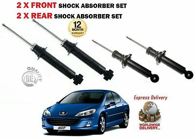 For Peugeot 407 1.8 2.0 2.2 1.6 Hdi 2004-  2X Front + 2X Rear Shock Absorber Set
