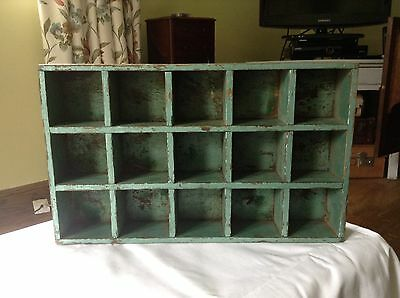 Small Set Vintage Shabby Chic Cubby Holes - Shelves - Collectables Tray