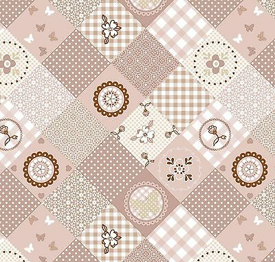 Pvc Table Cloth Patch Natural Geo Floral Check Polka Brown Latte Wipeable Cover