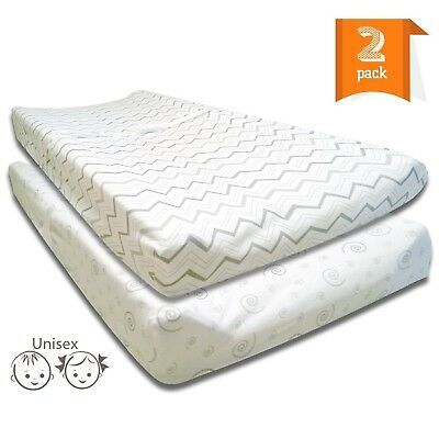 Baby Changing Pad Covers, Cradle Sheets Set – 2 Pack Jersey Cotton F...