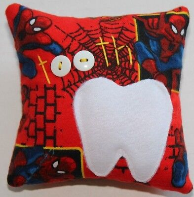Spider-Man SuperHero Red Boys Tooth Fairy Pillow
