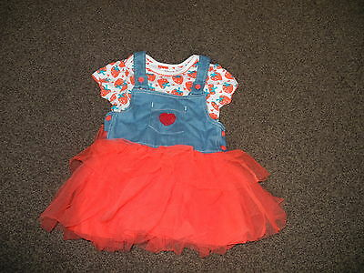 LADYBIRD  jeans skirt/tutu and top age 12-18months