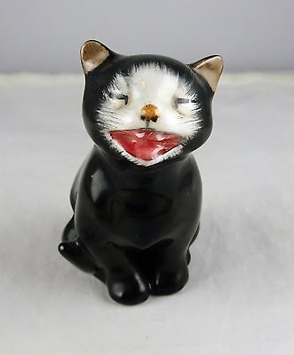"Royal Doulton English Bone China K12 Lucky ""Oooloo"" Smiling Black Cat Figurine"