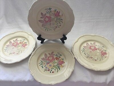 "4 Vintage Grindley of Tunstall England China Dinner  Plate ""The Maywood"" Pattern"