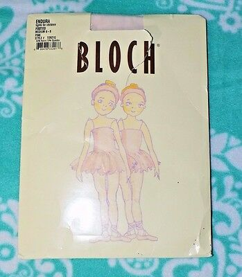New Pink Endura Pink Tights Bloch Size M 6-8 Footed Style T0921G