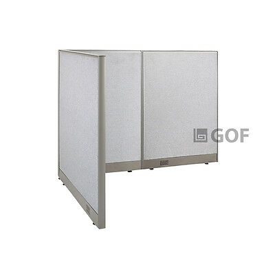 GOF L-Shaped Freestanding Partition 48D x 60W x 48H / Office, Room Divider