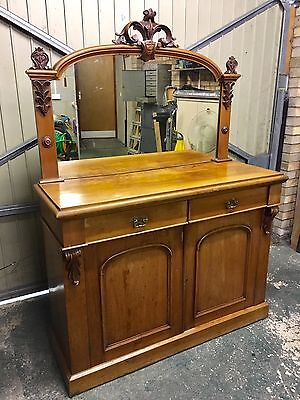 Victorian Mahogany Chiffonier/Sideboard with Mirror