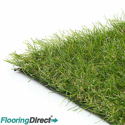 40mm Deluxe Artificial Grass Realistic Astro Natural Garden Turf & Fake Lawn