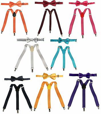 Suspender Bow Tie Set Boys Girl Kids Unisex Child Toddler Elastic Adjustable nwt