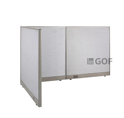 GOF L-Shaped Freestanding Partition 48D x 84W x 48H / Office, Room Divider