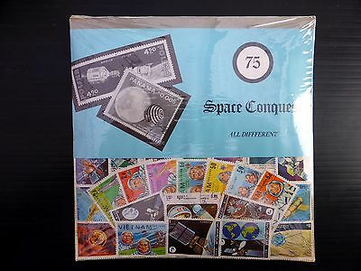 WORLDWIDE Thematics Space Conquest All Different 75 Stamps NB514