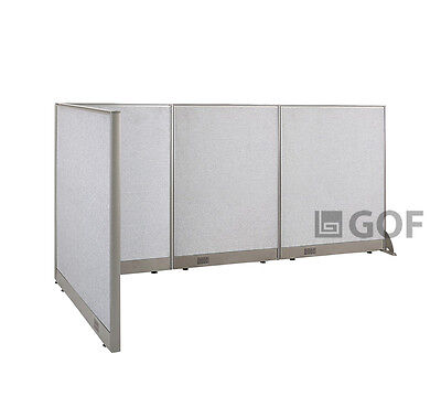 GOF L-Shaped Freestanding Partition 48D x 102W x 48H / Office, Room Divider