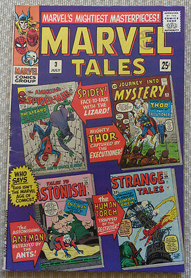 MARVEL TALES  # 3, 1966 (Spiderman, Thor, Human Torch) SILVER AGE