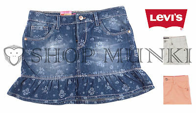 Levi Girls Denim Adjustable Scooter Skort, 5 Pocket, Flat Front