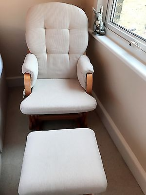 Nursing glider chair with matching footstool