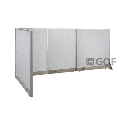 GOF L-Shaped Freestanding Partition 48D x 114W x 48H / Office, Room Divider