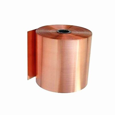 Metal Copper Sheet Plate Guillotine Cut Material 0.02mm/0.05mm Thick Choose Size