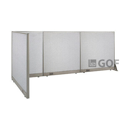 GOF L-Shaped Freestanding Partition 48D x 126W x 48H / Office, Room Divider