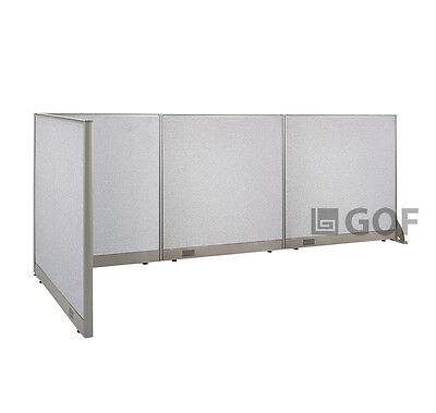 GOF L-Shaped Freestanding Partition 48D x 132W x 48H / Office, Room Divider