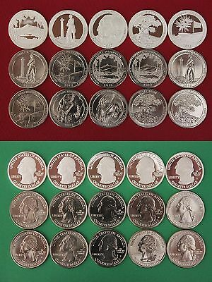 2013 PDS National Park Quarters From Proof and BU Mint Sets Combined Shipping