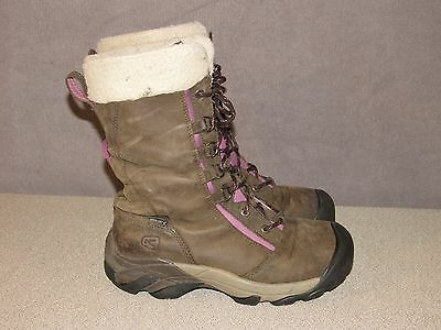 KEEN HooDoo High Lace Waterproof Insulated Leather Boots Women's Size 10 / 40.5