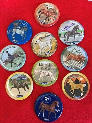 Breyer Buttons Of Past/Present Breyer Horses