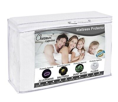 Premium Terry Cloth Hypoallergenic Waterproof Breathable Mattress Protector