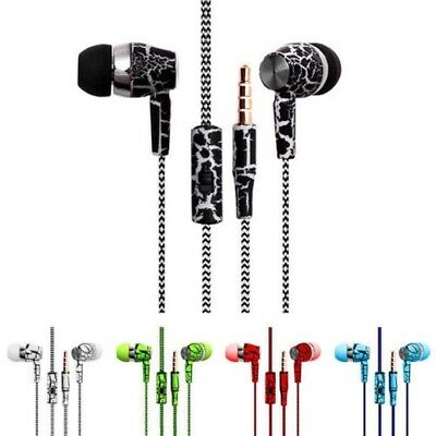 3.5mm Crack Muster Design Super Bass Stereo Ohrhörer Headset für Handy MP3