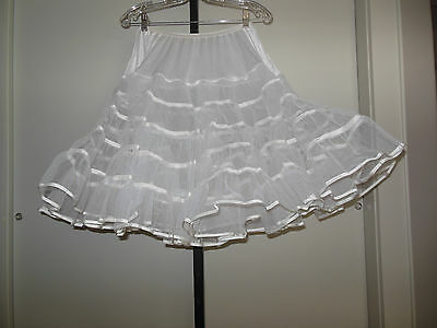 Vintage Malco Modes Double Layer Very Full White Petticoat Size M. New