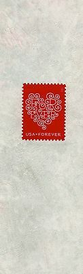 Love Forever - US Postage Stamp on decorative paper,  laminated bookmark