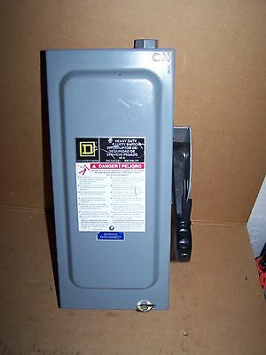 square D H322N switch fusable safety electrical box 60 amp