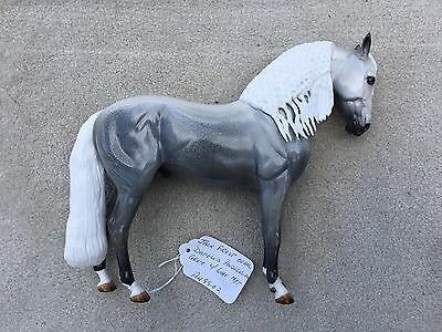 Breyer Peter Stone Horse Andalusian Glossy Jack Frost OOAK Dapple Grey Braided