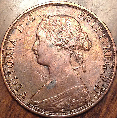 1864 New Brunswick Large 1 Cent In Amazing High Grade !! - Cleaned