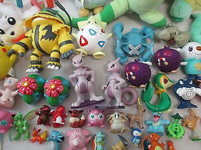 Huge Lot of 55+ POKEMON Toys Action Figures Plushes Pikachu Jigglypuff ++