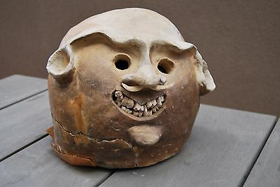 Rare original Asaro Mud Man Mask New Guinea Collected in the 1960s