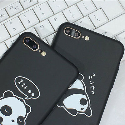 Cute Panda Pattern Ultra Slim Hard Back Case Cover for iPhone 6 6s 7 8 8 Plus