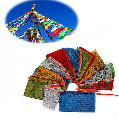 Buddhism Prayer Flag 196 Inch Long Tibet Buddhist Om Mani Padme Hum Scriptures