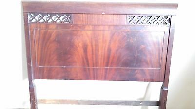 Antique Skandia Cherry / Mahogany Twin Bed 2 Headboard and 2 footboard Wood