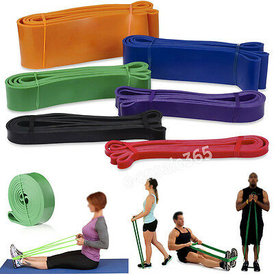 New Premium Latex Elastic Pull Up Exercise Band for Home Fitness Travel Yoga AU