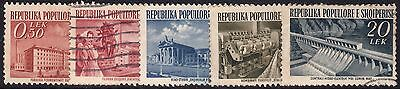 Albania 1953 Industry Part Set of 5 Used