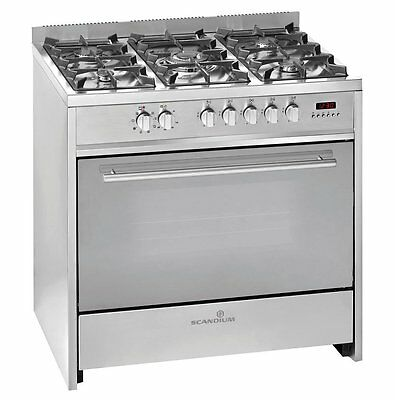 SCU900S Scandium 90cm Stainless Steel Upright-Cooker. With 3 years warranty.